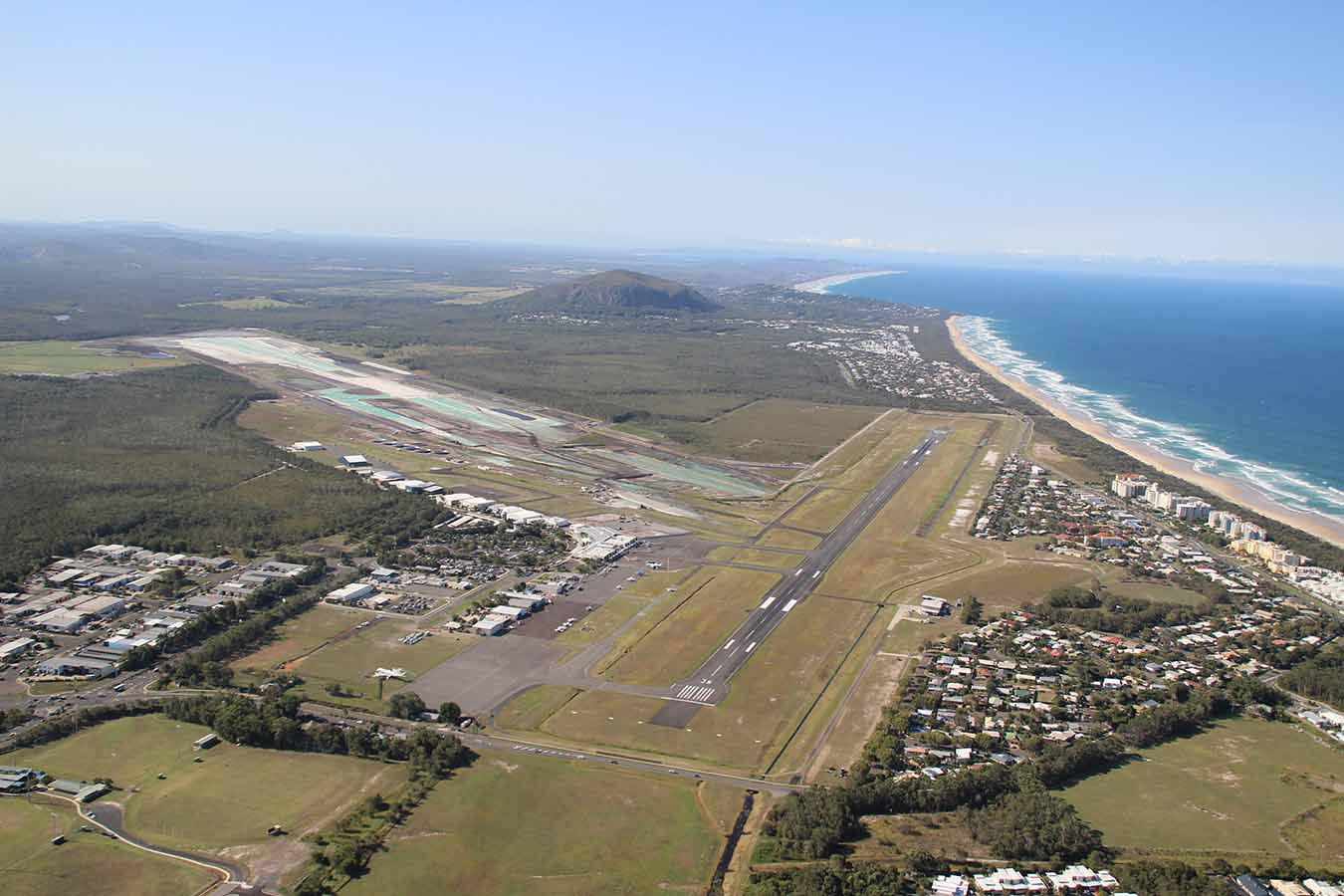 sunshine coast aerial view